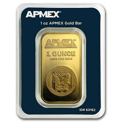 1 oz APMEX Gold Bar .9999 Fine (In Tamper Evident Packaging) - SKU #90600