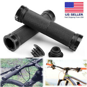Bike Handlebar Hand Grips Rubber Bicycle Ergonomic Cycling Lock On Brand New