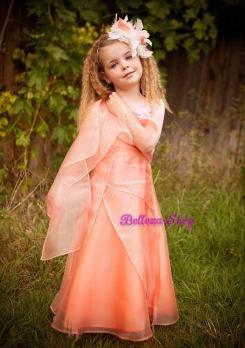Rhinestone Wedding Flower Girl Pageant Party Formal Dress Shawl Size 2-12 FG96