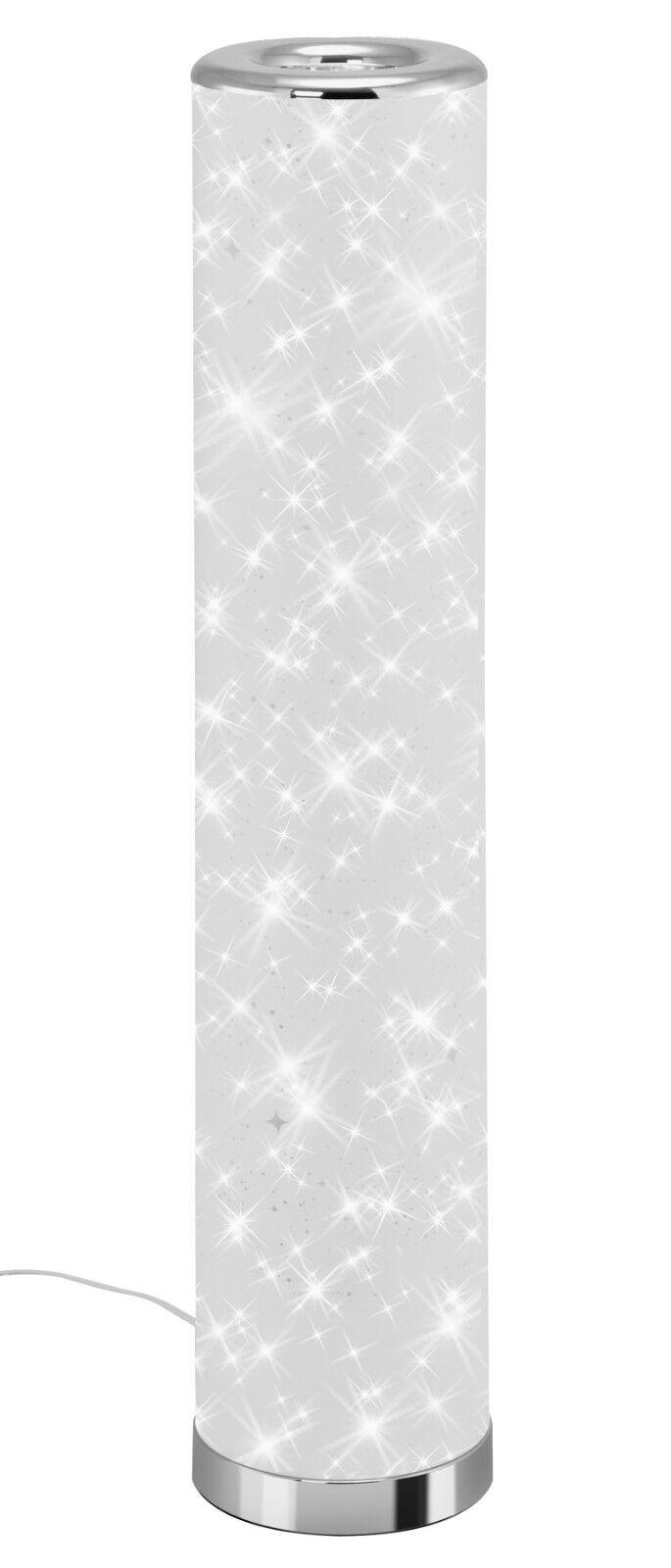 Briloner WiFi LED Stehleuchte Standleuchte CLUE Kunststoff weiß-chrom mit Sterne