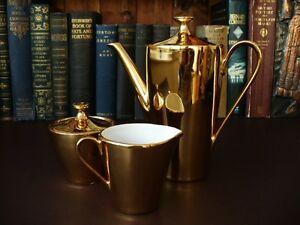 c-1905-Bavarian-22-kt-Gold-Plate-On-Porcelain-3-Piece-Coffee-Set