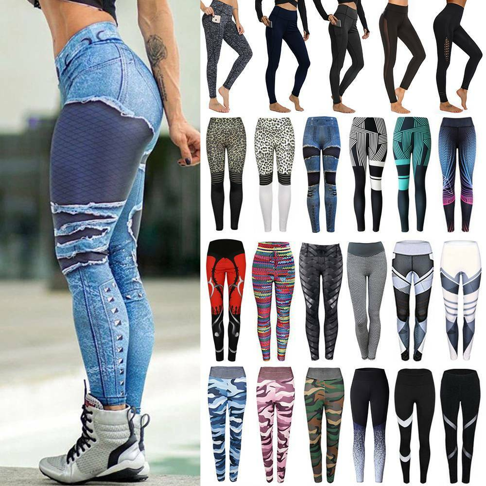 Women's High Waist Yoga Pants Leggings Butt Lift Sports Fitness Athletic Clothes