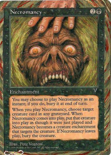 Necromancy Altered Full Art MTG Magic Commander 2020 EDH Birthday Gift