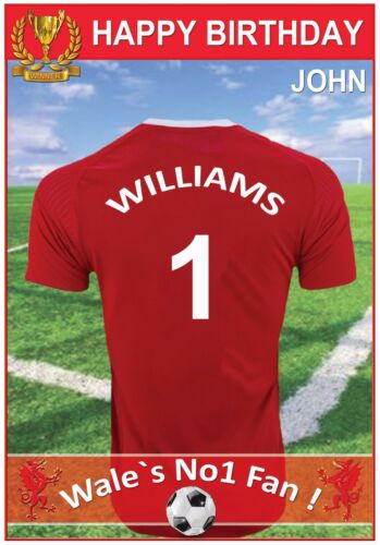 Personalised /& Amazing ! Wales Football Inspired Birthday Cards 2 Designs