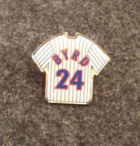 Chicago Cubs Marlon Byrd pinstripe jersey lapel hat pin MLB small ... f66b3f746ea