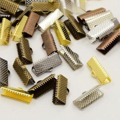 LOT de 30 EMBOUTS PINCES ATTACHE RUBAN à griffes 20mm MIX 5 COULEURS bijoux