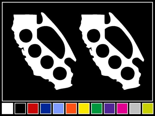 CALIFORNIA BRASS KNUCKLES Vinyl Decal Sticker CA JDM Drift Racing Turbo LA 2