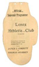 Original 1898 James J. Corbett Tom Sharkey Second Bout Boxing Program