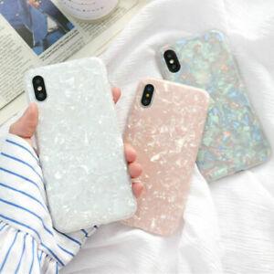 Fur-Iphone-6-7-8-Plus-XS-Max-XR-Marmor-Stosfest-Silikon-Schutzhulle-Cover