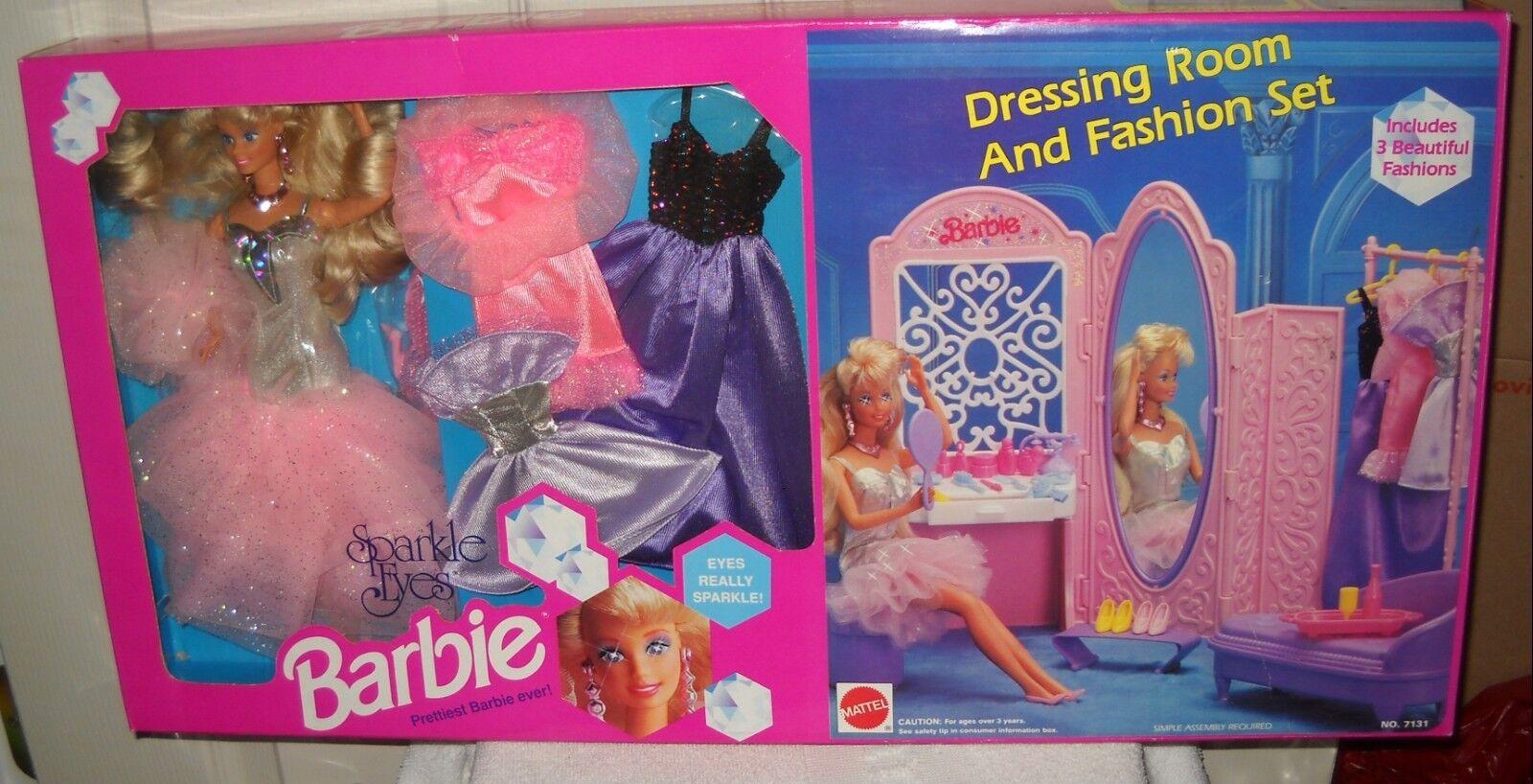 Nunca quitado de la Caja Mattel al por mayor club Sparkle ojos Barbie Vestidor & Juego De Moda