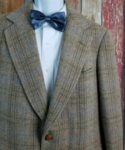 Southwick Mens Brown Herringbone Check Tweed Wool