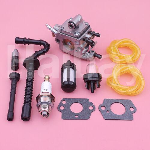 Carburetor For Stihl MS192 MS192T MS192TC Fuel Oil Filter Line Hose Primer Bulb