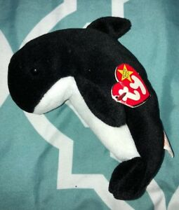 TY BEANIE BABY WAVES THE WHALE 1996 RETIRED MWMT