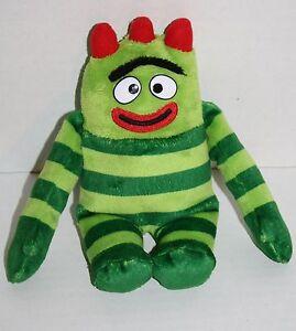 TY-Beanie-Baby-Stuffed-Animal-Toy-Yo-Gabba-Gabba-BROBEE-8-034-Plush-Green-Striped
