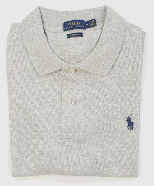 Ladies Ralph Lauren SKINNY Polo Size Medium Colour Grey 062016   eBay 1b20512062e