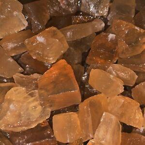 1000-Carat-Lots-of-SMALL-Citrine-Calcite-Rough-A-FREE-Faceted-Gemstone
