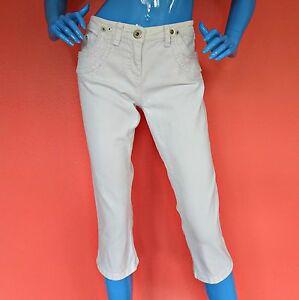 Women-River-Island-Capri-Cropped-White-Jeans-14-40-L-Skinny-Slim-Pant-Stretch