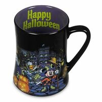 NEW DISNEY WORLD STORE Mickey Minnie Donald Goofy Pluto Halloween Coffee Mug Cup
