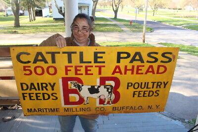 Delaware Feeds Cow Pass Farming Retro Tin Metal Sign