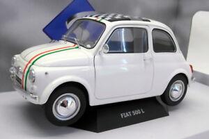 Modèle réduit de voiture solide au 1/18 - S1801403 Fiat 500 Italy White