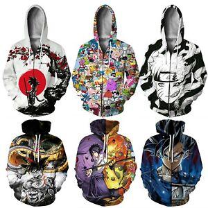 Womens Mens Dragon Ball Z 3D Anime Print Pullover Hoodies Jumper Jacket Coat Top