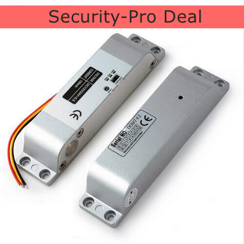 US Door Access Control System DC12V Electric Drop Bolt Lock+2PCS Remote Controls