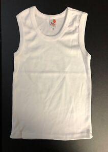 4 Pack Boy Toddler Kid 100/% Cotton Rib Undershirt Tank Top A Shirts Size 1-12