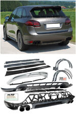 Gts Style Front Lip Rear Diffuser Side Skirts Spoiler For 11 14 Porsche Cayenne Fits Cayenne