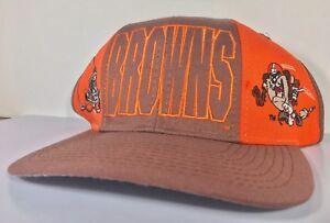 Vintage-Cleveland-Browns-Taz-NFL-Ball-Cap-Hat-Orange-Looney-Tunes-Football