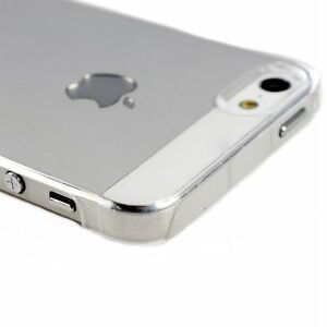 Pour-Iphone-4-4S-Coque-Etui-Rigide-Transparent-Un-Film-De-Protection-Offert