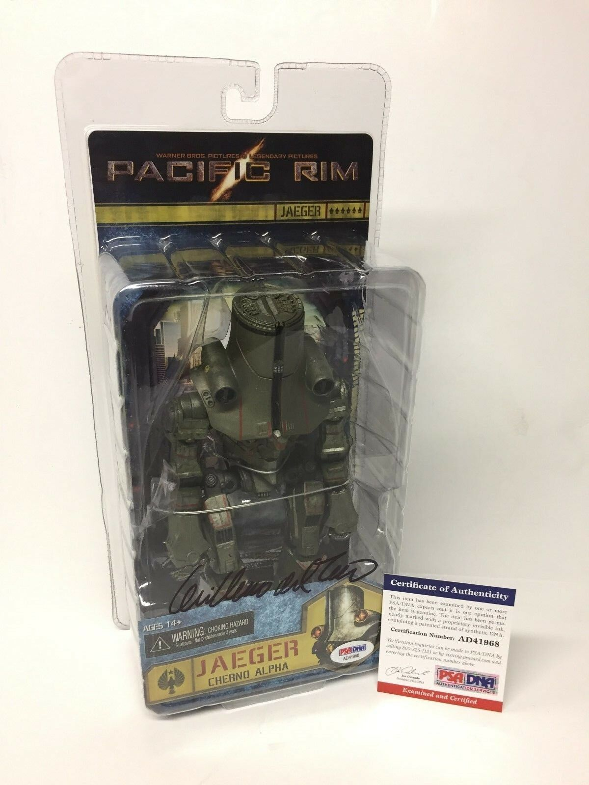 Guillermo Del Toro Signed Pacific Rim Jaeger Cherno Alpha Action Figure PSA