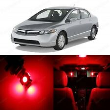 8 x Ultra Red LED Lights Interior Package For Honda CIVIC 2006 2012 Coupe Sedan