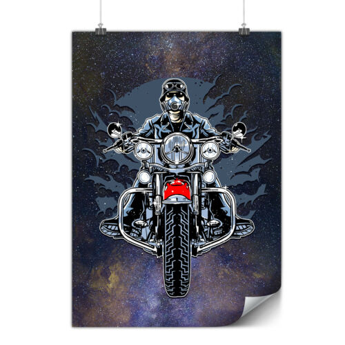 Ride Night Moto Biker Matte//Glossy PosterWellcoda