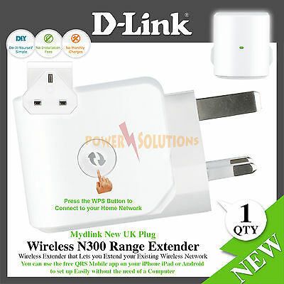 D-Link Wireless N 300 Mbps Compact Wi-Fi Range Extender DAP-1320 UK Model NEW