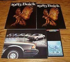 Original 1983 Buick Sales Brochure Lot of 4 83 Full Line T Type Colors
