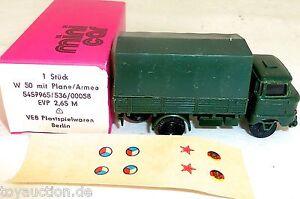 W50-Ejercito-Con-Lona-W-50-MINI-CAR-Anteriormente-Espewe-RDA-VEB-emb-orig-H0