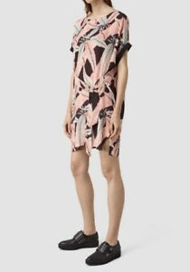 Pattern £168 fits uk Allsaints 8 10 6 Dress Sonny pink Fuji Bnwt 1PUCHqAwH