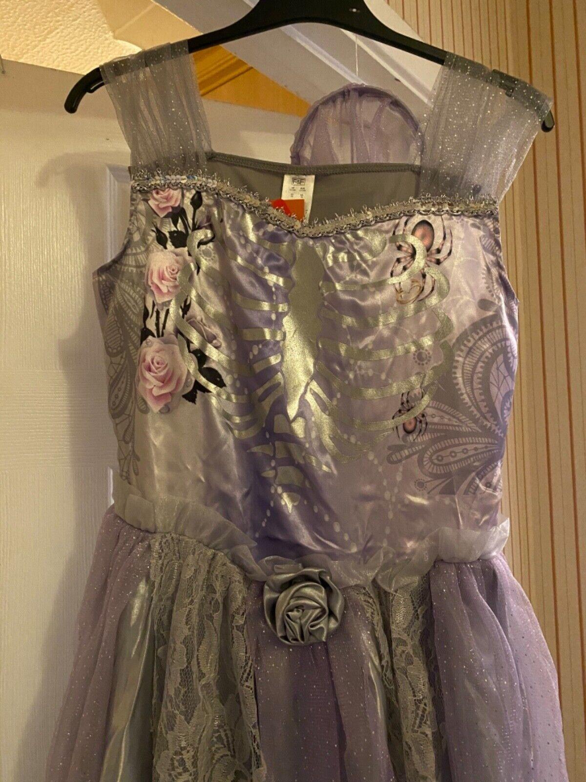 BNWT - Tesco Zombie Bride Halloween Fancy Dress Outfit - 13-14 - Gift