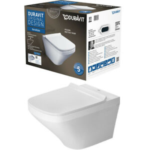 DURAVIT-DURASTYLE-WAND-WC-COMBIPACK-SPULRANDLOS-RIMLESS-WC-SITZ-WEISS-45510900A1