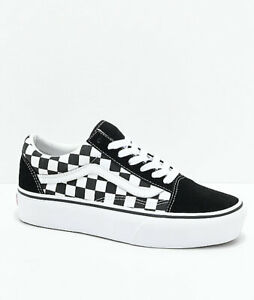Details about Vans Old Skool Black & White Checkered Platform Shoes New  Tags Size 9.5 Skate