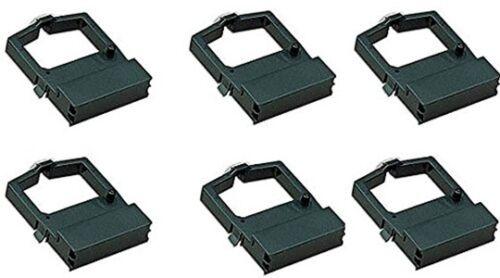 SIX OKIDATA Microline 182//184//186//320//321//390//391 Compatible Ribbons 52102001