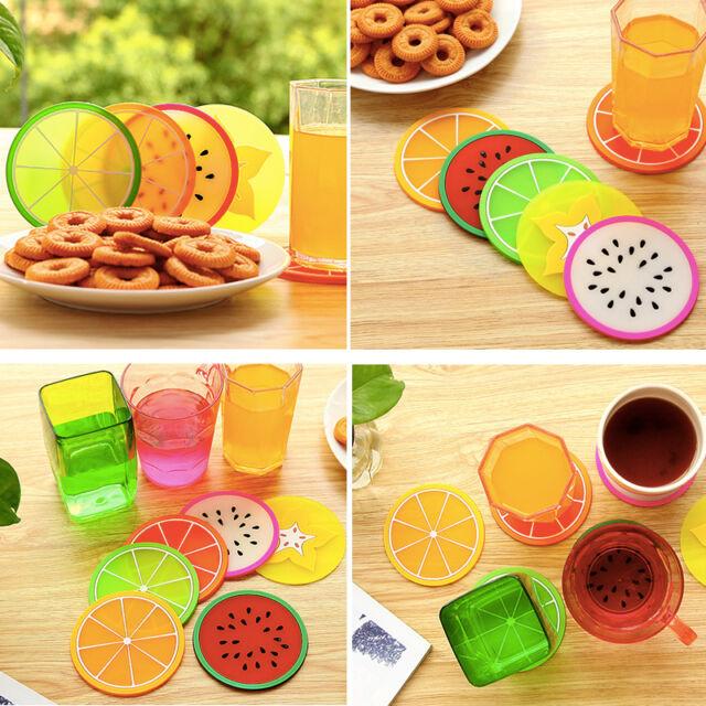 Des Fruit Sous-Verres Coussin Pour Table Pad Napperon Boisson Titulaire Cup Mat