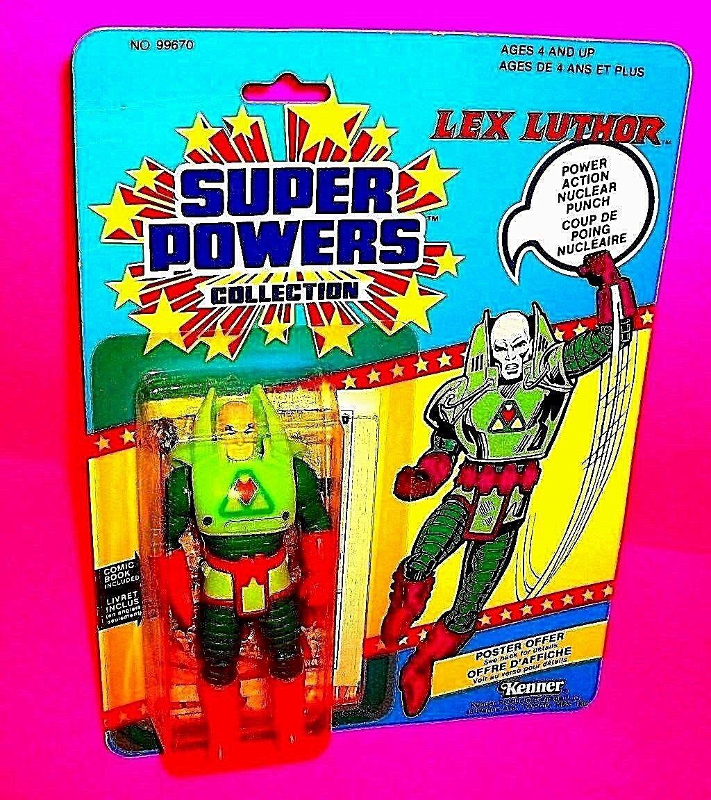 Kenner SUPER POWERS LEX LUTHOR Action Figure DC COMICS 1984  w Comic Bi-Lingual