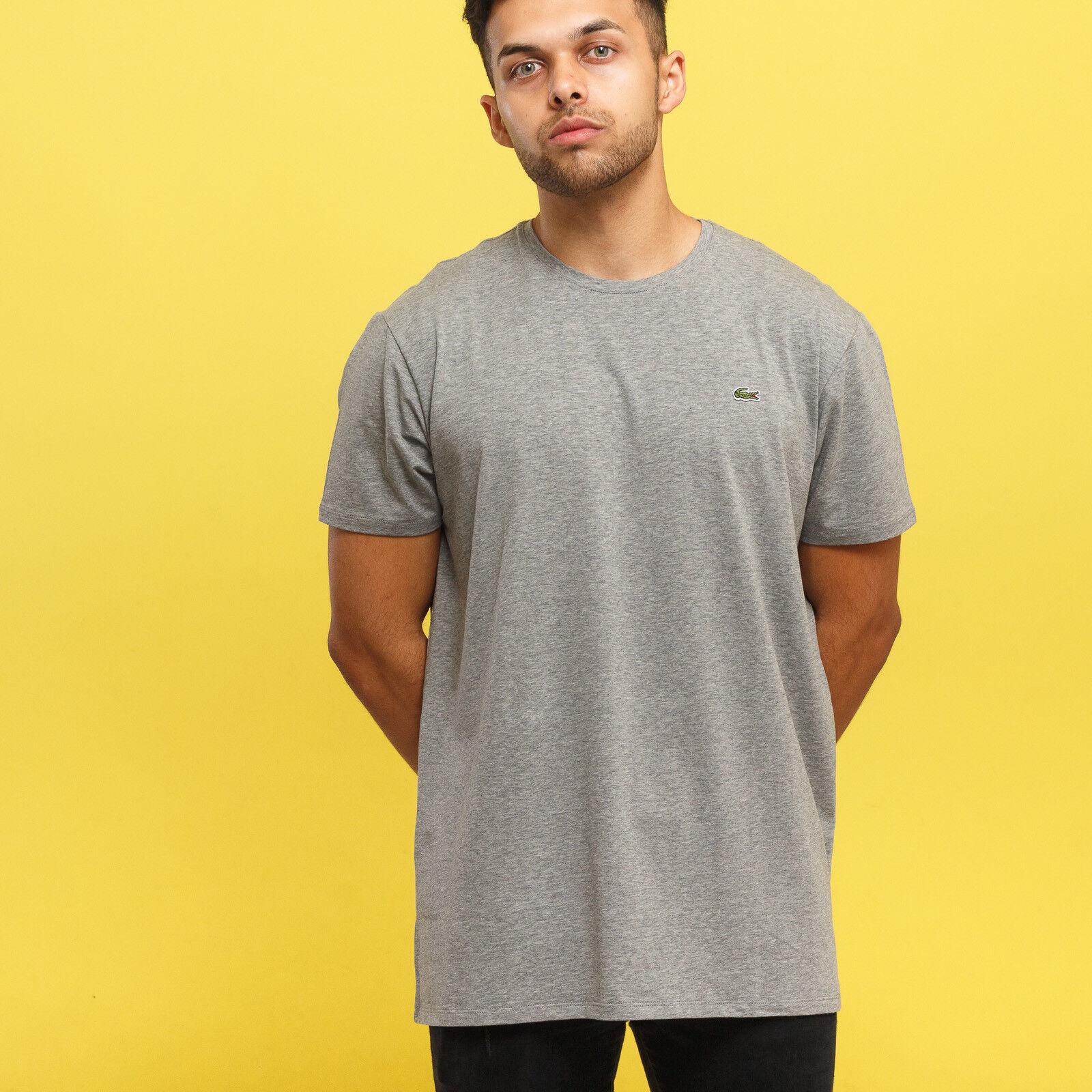 LACOSTE Base T-shirt grau melange M, Grau, TH6709
