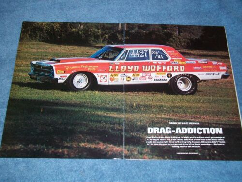 "1965 Plymouth Belvedere Vintage Drag Car Article ""DragAddiction"" 426 Hemi"
