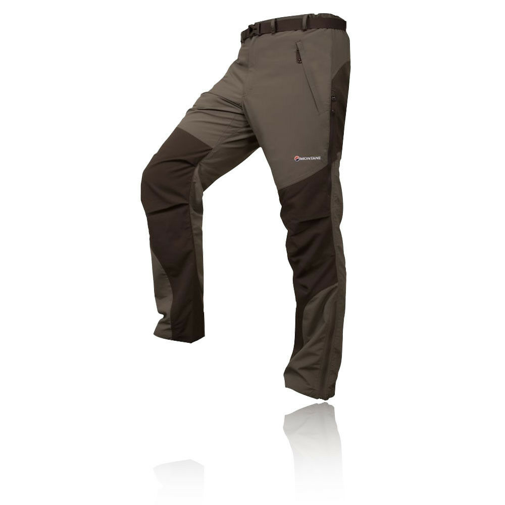 Montane Terra Reg Uomo verde Impermeabile Outdoor Trekking Pantaloni