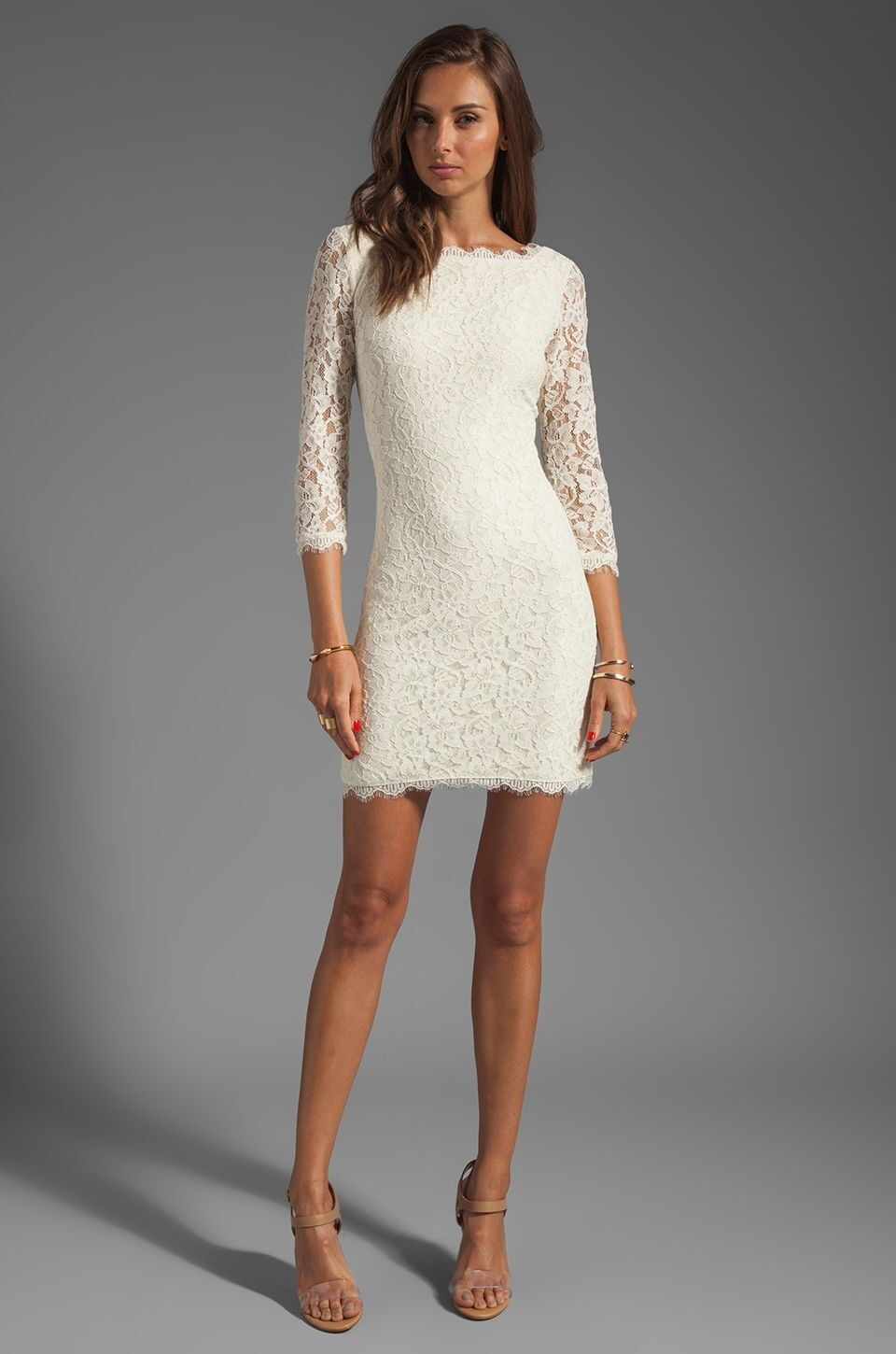 NEW Authentic DVF Diane von Furstenberg ZARITA Ivory Dress 8 10 Wedding