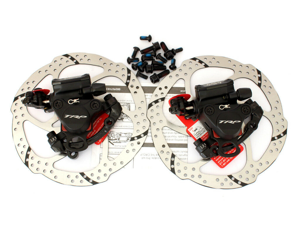 TRP HY RD Post Mount Cable Actuated Hydraulic Disc Brake Caliper Set 160mm