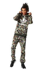 Details about NEW Mens Adidas Originals Camo Hoodie Top & Bottoms Pants SET Casual Gym Retro