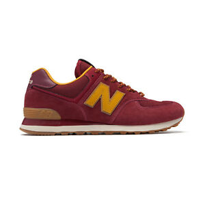best sneakers 5a8eb e396d Details about New Balance ML574OTC D [ML574OTCD] Men Casual Shoes  Burgundy/Orange